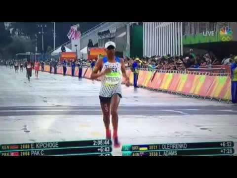 Meb Keflezighi Olympic Marathon Finish