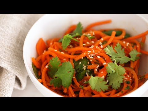 Spicy Sesame Carrot Noodles- Healthy Appetite with Shira Bocar