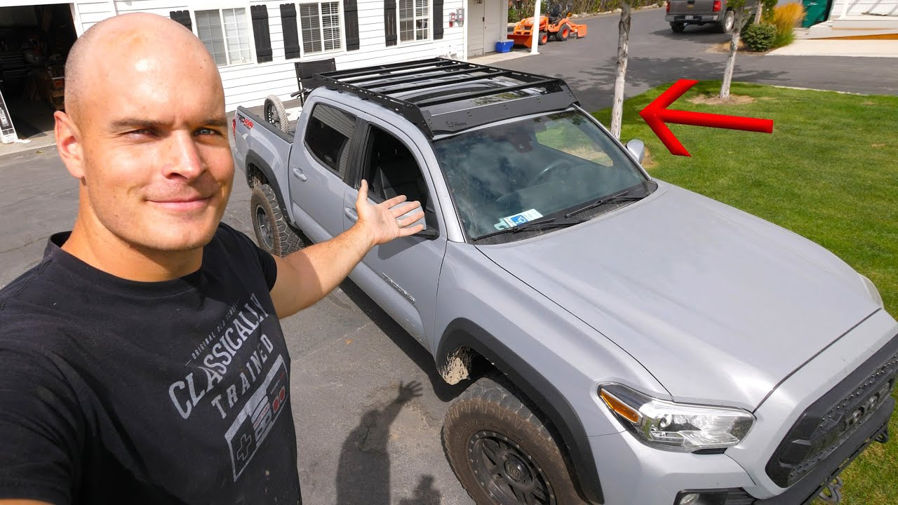 new roof rack for my tacoma prinsu cab rack install video
