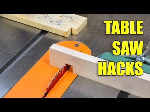 5 Quick Table Saw Hacks / Woodworking Tips and Tricks