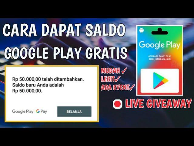 Cara Dapat Saldo Google Play Grati Aplikasi Penghasil Google Play Legit Youtube