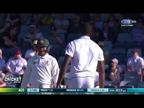 kagiso Rabada's super spell of fast bowling vs AUSTRALIA (perth test 2016) FULL HD