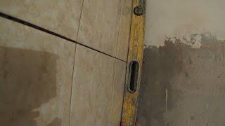 Быстрая укладка плитки на заваленный угол