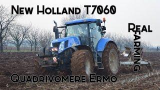 realfarming aratura 2015   new holland t7060 quadrivomere ermo reversibile