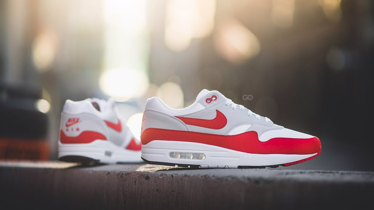 Nike Air Max 1 OG 2017 University Red 30th Anniversary Review, On Feet and comparison