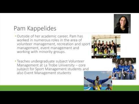 """SMAANZ Volunteers Webinar - """"Volunteer Management in Sports & Events"""""""