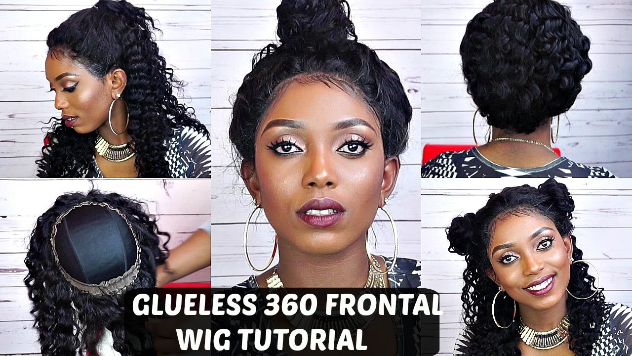 360 Lace Frontal Wig Tutorial No Glue No Tape Comingbuy Youtube