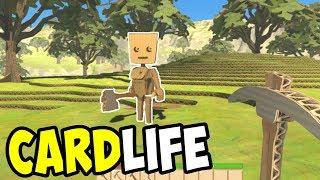 ENTIRE WORLD MADE of CARDBOARD - CardLife Gameplay - Open-world Crafting Survival Sandbox