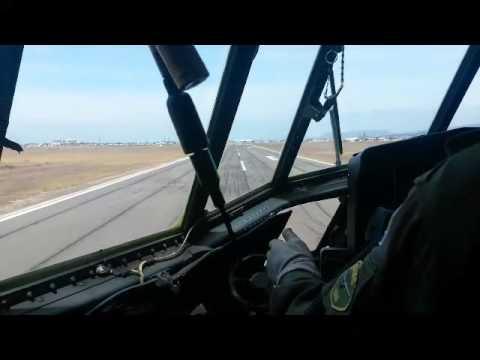 C130 Landing at Ysterplaat AFB