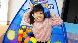 Learn Colors With Balls For Kids, Children, Toddlers, Nursery Rhymes With Ocean Balls Tent, BaBiBum