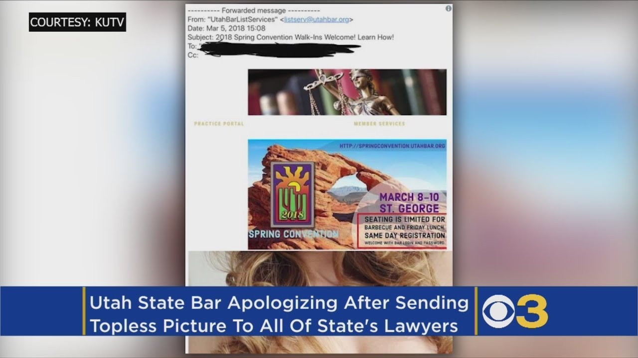 Utah State Bar Accidentally Sends Nude Photo To Its Members