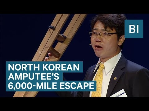 North Korean defector trekked 6,000 miles on crutches to escape