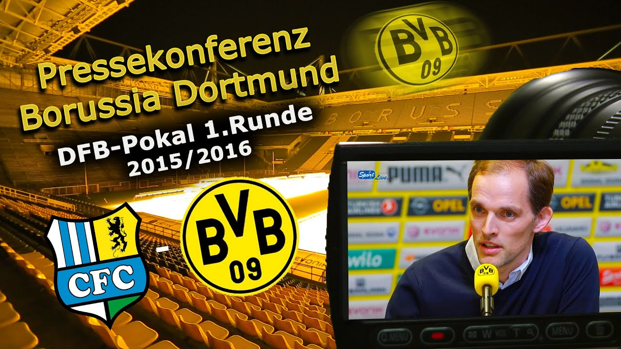 Chemnitzer FC - Borussia Dortmund: Thomas Tuchel zur 1. Runde im DFB-Pokal