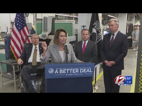 Nancy Pelosi assails Republican tax reform bill during Rhode Island visit