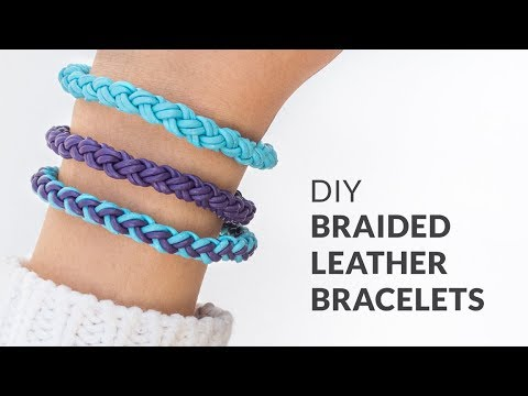 Diy Round Braid Leather Friendship Bracelets Curly Made