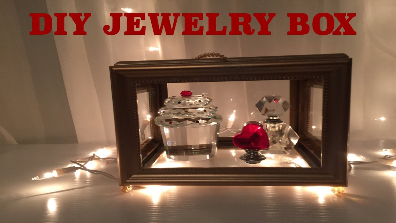 Dollar tree DIY jewelry box  YouTube