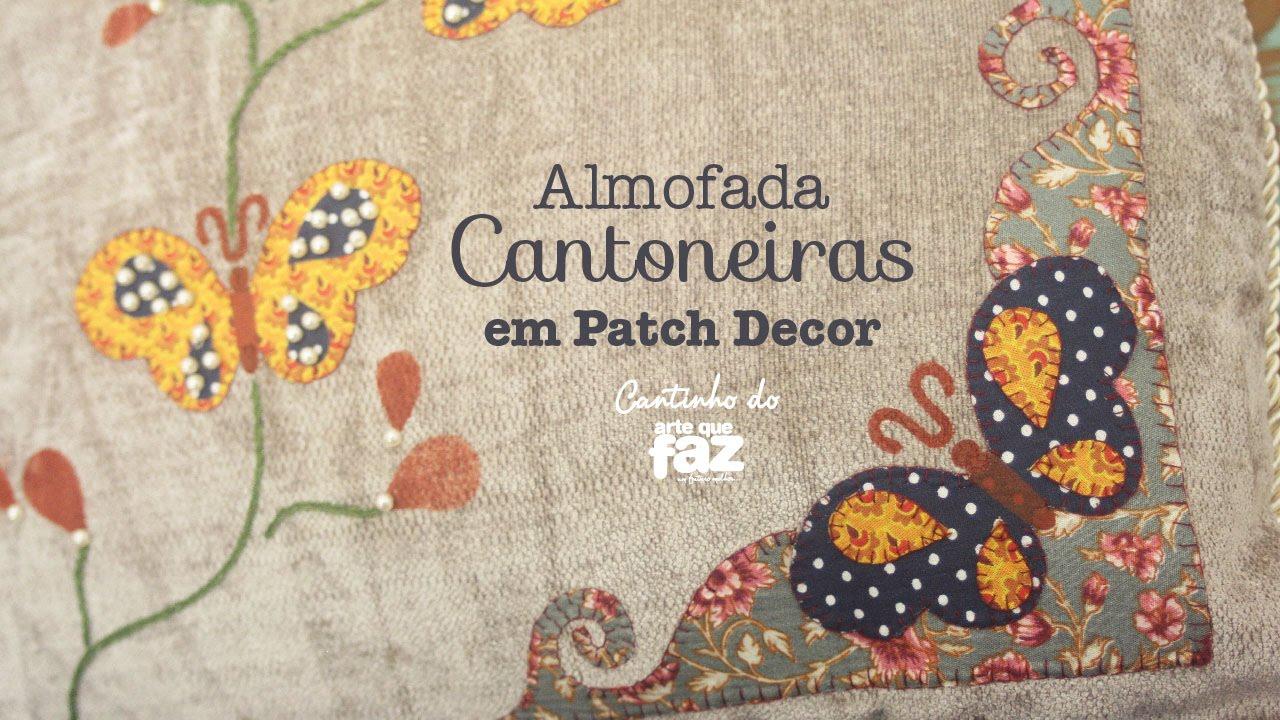 Excepcional DIY - Almofada cantoneiras em Patch Apliquê (Sonia Marques) - YouTube IM99