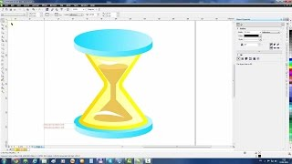 CorelDRAW Example: Hourglass icon
