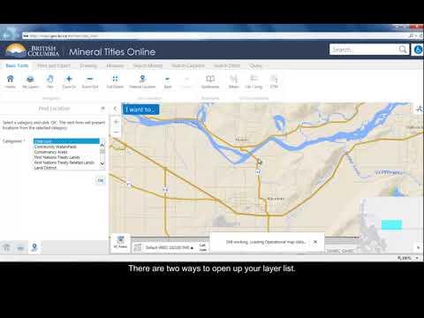 MTO Mineral Titles Online Internet Maps (British Columbia)