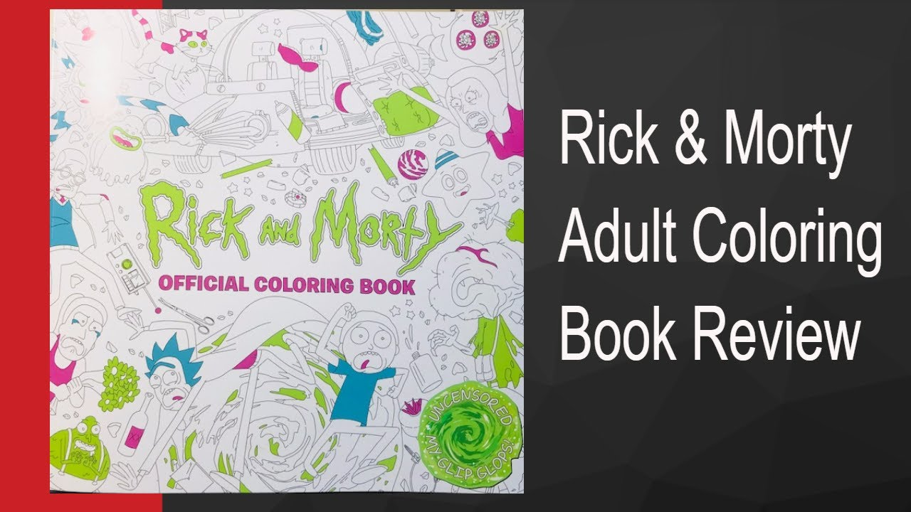 Rick and Morty Coloring Book Review - YouTube
