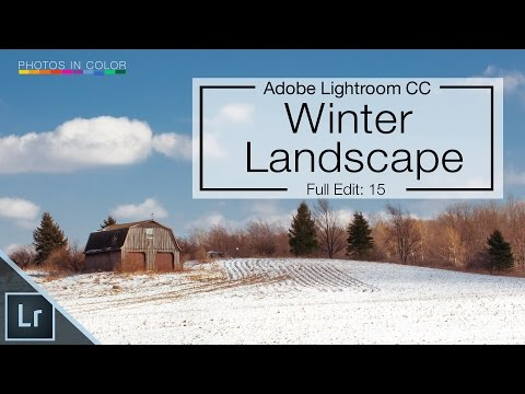 Lightroom CC Tutorial - Before After  - Snow landscape Lightroom 6