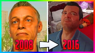The FIRST EVER Images Of GTA 5 In 2008 - How The Characters & Los Santos Looked Like 8 Years Ago!