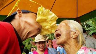 Lucu-kakek-nenek lomba makan kerupuk desa miau baru