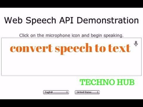 speech to text in all language tutorial 2017  HINDI