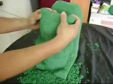 Como tallar una ardilla en espuma floral (parte2)