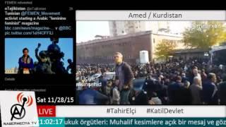 Amed'de Tahir Elçi'nin öldürülmesi sonrasında halk morgun önünde toplandı
