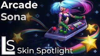 Arcade Sona - Skin Spotlight - League of Legends - Arcade Heroes Collection