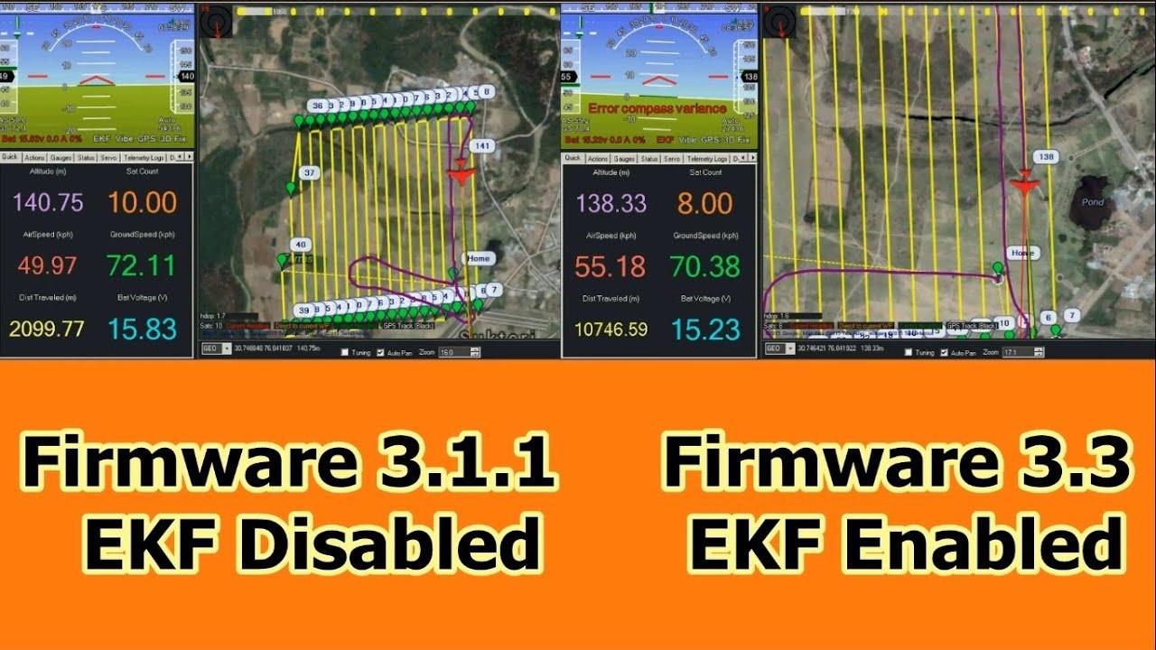 EKF - Extended Kalman Filter Parameters - For Arduplane