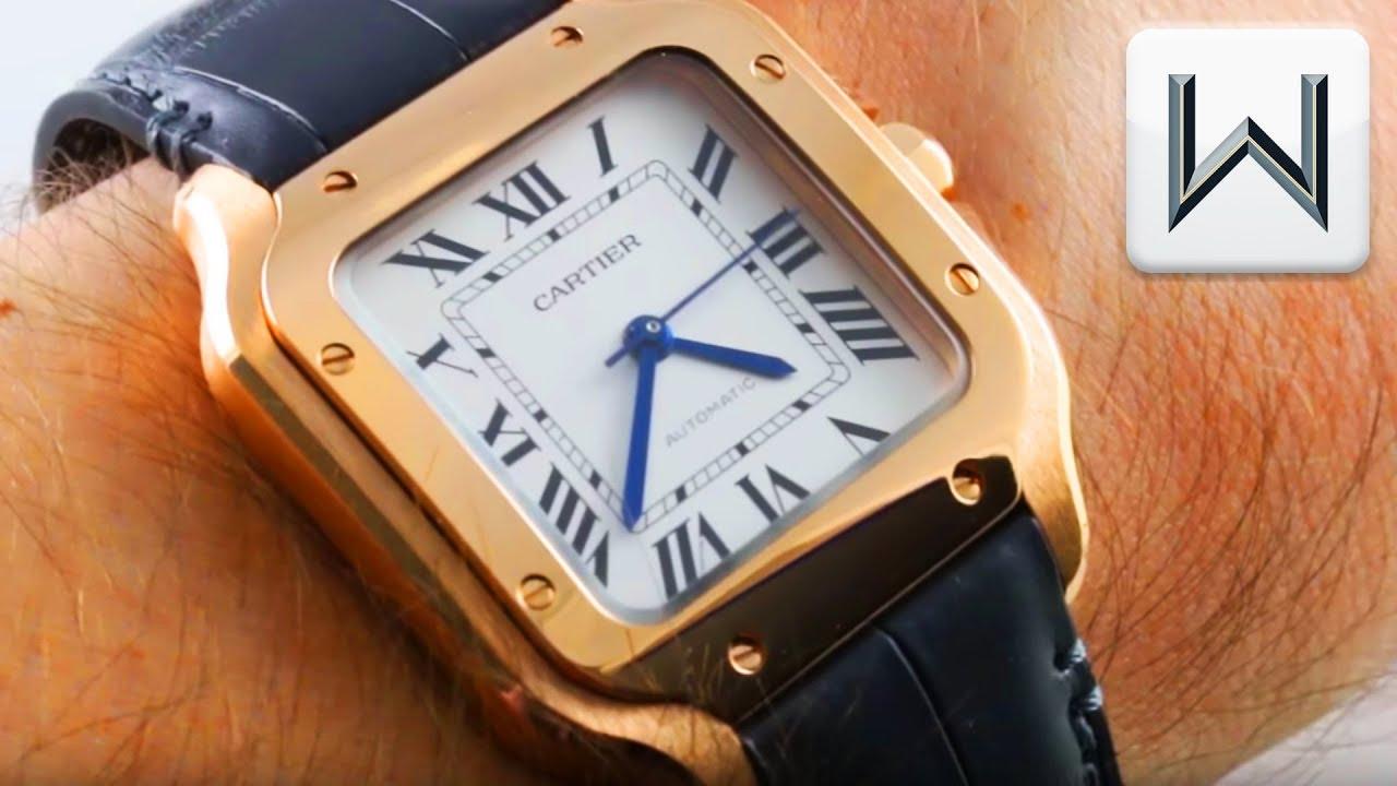 2018 Cartier Santos Medium Rose Gold QuickSwitch Santos de Cartier WGSA0012 Luxury Watch ...