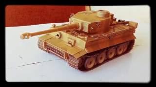 Papercraft tank model (tiger)