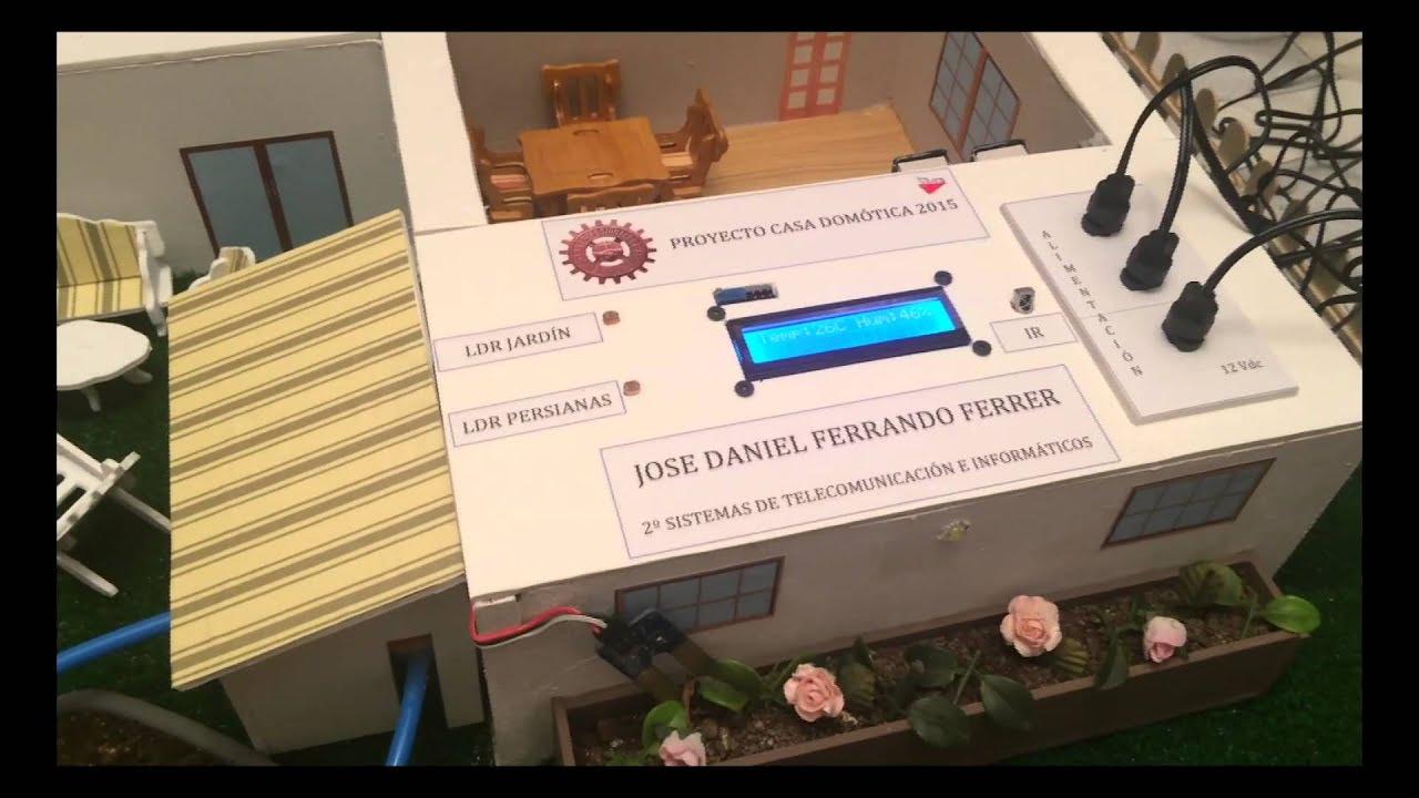 Proyecto arduino casa domótica youtube