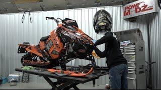 Polaris AXYS RMK Turbo Elka Suspension Install. PowerModz