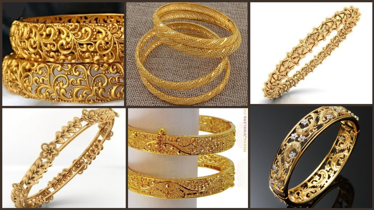 Latest Very Good Looking Gold Bangles Designs 2019/2020