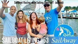SailAway 53 | Sailboat Racing with Sailing Saoirse! (almost) | Sailboat Living Sailing Vlog