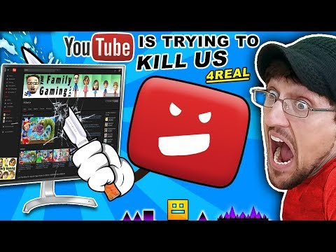 YOUTUBE TRYING TO KILL OUR CHANNEL! FGTEEV vs. Troll @ Google HQ CONSPIRACY!! GEOMETRY DASH & ROBLOX