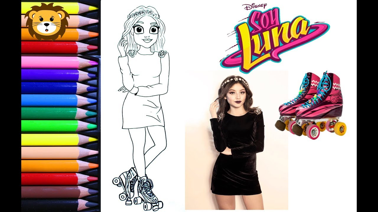 Como Dibujar Soy Luna En Patines Kawaii Dibujos Para Niños Draw And Coloring Book For Kids