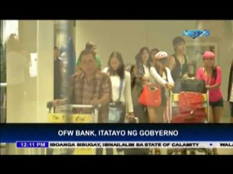 Government to establish bank for OFW