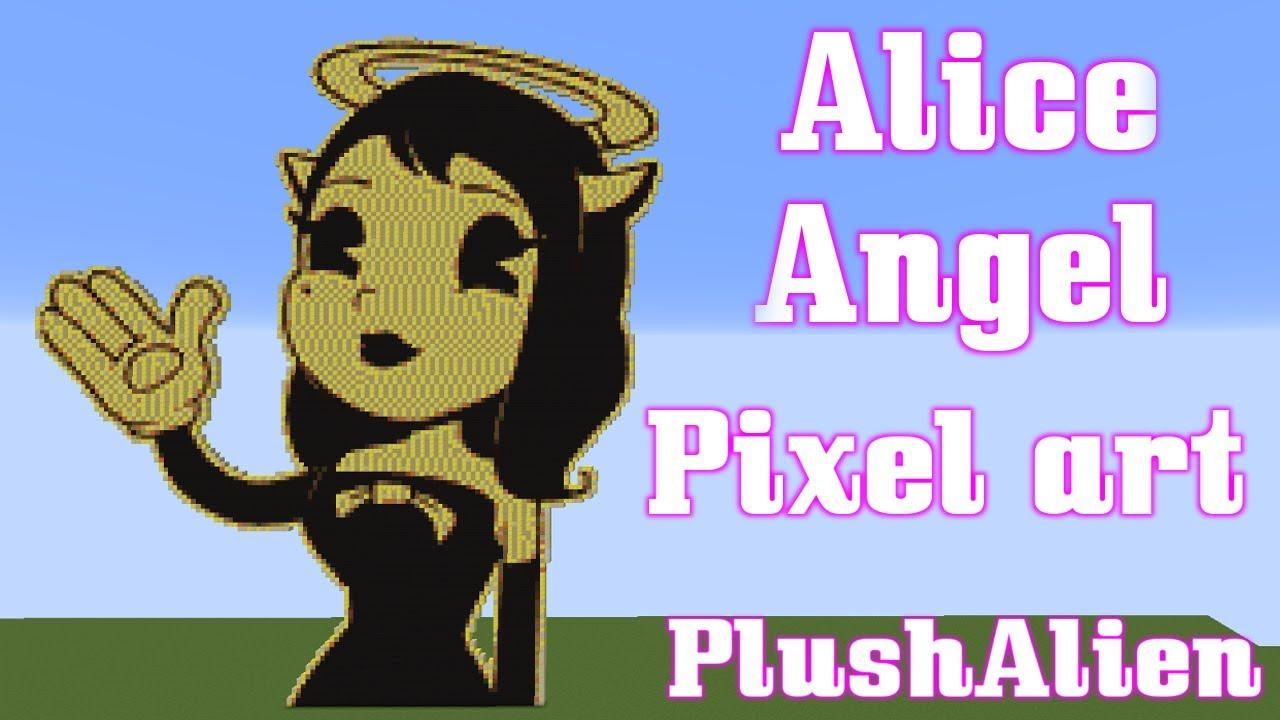 Minecraft Pixel Art Speedbuild Alice Angel