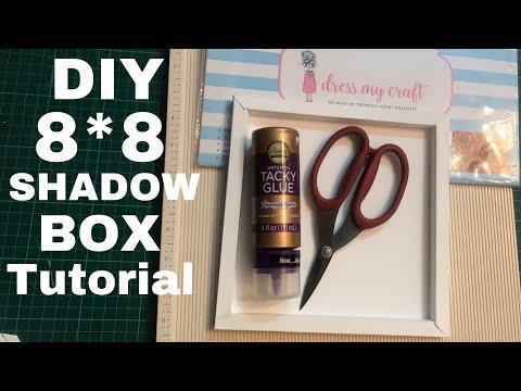 59. DIY SHADOW BOX TUTORIAL using 12*12 Cardstock   How to make Shadow Box   DRESS MY CRAFT