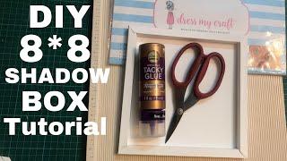59. DIY SHADOW BOX TUTORIAL using 12*12 Cardstock | How to make Shadow Box | DRESS MY CRAFT