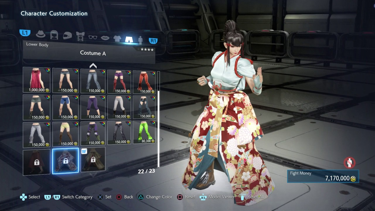 Tekken 7 Kazumi Character Customization Showcase 1080p 60fps Ps4 Pro Youtube