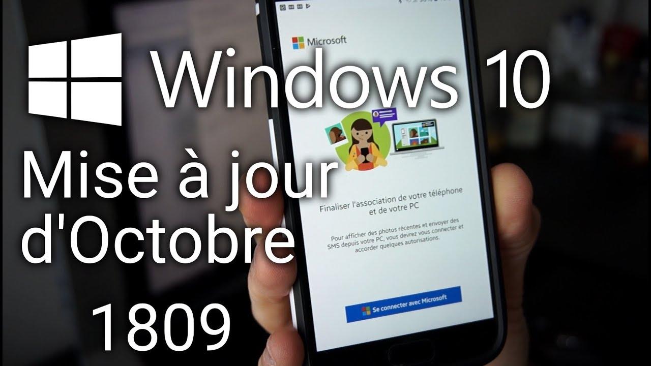windows 10 1809 installer la mise à jour doctobre 2018