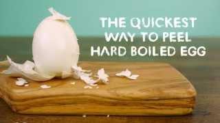 Cách bóc trứng chỉ trong 1 giây