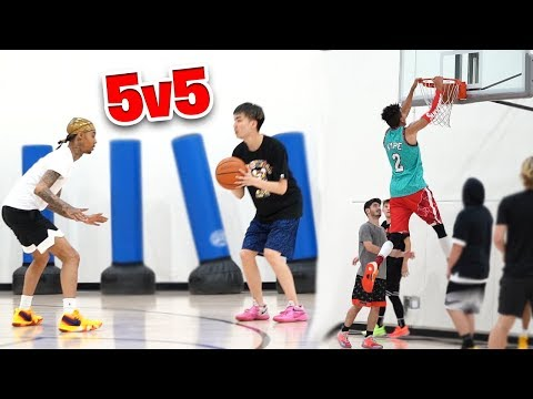 2HYPE 5v5 Basketball vs. RiceGum & FlightReacts + COMP Chicago RUN