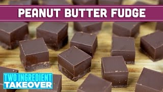 Two Ingredient Chocolate Peanut Butter Fudge (Vegan Friendly!) | - Mind Over Munch