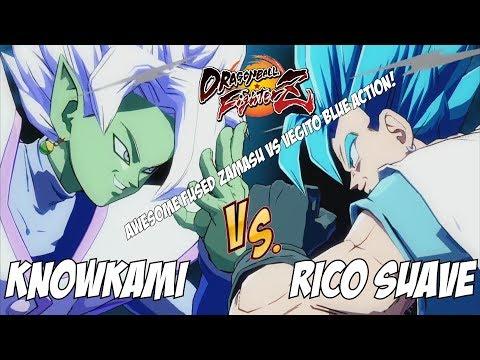 KnowKami(Fused Zamasu/Cell/Gotenks) Fights Rico Suave(Vegito Blue/Broly/SSJ Goku)![DBFZ]
